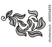 beautiful branch. vector... | Shutterstock .eps vector #600056858