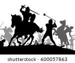 vector silhouette illustration...   Shutterstock .eps vector #600057863