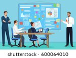 concept of the coworking center.... | Shutterstock .eps vector #600064010