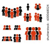 people icon set | Shutterstock .eps vector #600068024