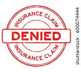 grunge red insurance claim... | Shutterstock .eps vector #600074444