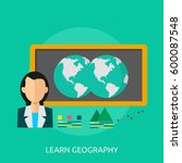 learning geography icon | Shutterstock .eps vector #600087548