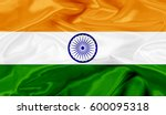 india flag of silk 3d... | Shutterstock . vector #600095318