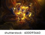 Abstract Glowing Swirly Textur...
