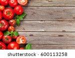 Fresh Ripe Garden Tomatoes And...