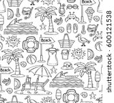 vector seamless pattern with... | Shutterstock .eps vector #600121538
