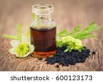 nigella flower with seeds and... | Shutterstock . vector #600123173