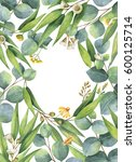 watercolor hand painted green... | Shutterstock . vector #600125714