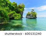 tropical clear sea at koh pak... | Shutterstock . vector #600131240