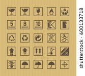 box pictogram sign icon vector... | Shutterstock .eps vector #600133718