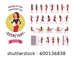 ready to use character set.... | Shutterstock .eps vector #600136838