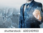 double exposure of professional ... | Shutterstock . vector #600140903
