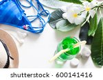 summer concept iced green color ... | Shutterstock . vector #600141416