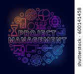 project management bright... | Shutterstock .eps vector #600141458
