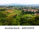 View On The Small Town In The...