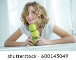 young woman in braces | Shutterstock . vector #600145049