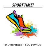sport time motivational... | Shutterstock .eps vector #600149408