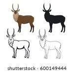 african animal waterbuck  in...   Shutterstock .eps vector #600149444