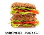 healthy lunch with brown... | Shutterstock . vector #60015517