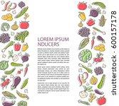 agricultural leaflet template... | Shutterstock .eps vector #600157178