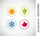 vector season icons. four... | Shutterstock .eps vector #600160883