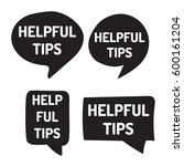 helpful tips. hand drawn black... | Shutterstock .eps vector #600161204