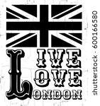live love london. quote... | Shutterstock .eps vector #600166580