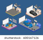 isometric flat 3d isolated... | Shutterstock . vector #600167126