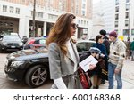 milan  italy   february 26 ... | Shutterstock . vector #600168368