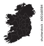 ireland   map | Shutterstock .eps vector #600168584