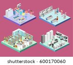 isometric interior shopping... | Shutterstock . vector #600170060