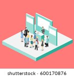 isometric flat 3d concept... | Shutterstock . vector #600170876