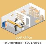 isometric flat 3d interior of... | Shutterstock . vector #600170996