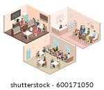 isometric interior of sweet... | Shutterstock . vector #600171050