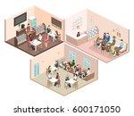 isometric interior of sweet... | Shutterstock . vector #600171050