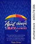 umbrella protection from rain.... | Shutterstock .eps vector #600176186