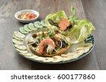 banh xeo   vietnamese pan cake  ... | Shutterstock . vector #600177860