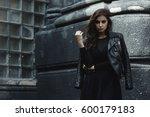 eastern beautiful woman wearing ... | Shutterstock . vector #600179183