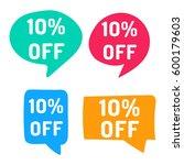 10  off. hand drawn speech... | Shutterstock .eps vector #600179603