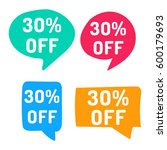 30  off. hand drawn speech... | Shutterstock .eps vector #600179693