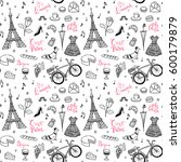 seamless vector pattern with... | Shutterstock .eps vector #600179879