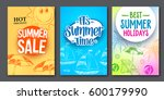 summer sale and summer time... | Shutterstock .eps vector #600179990