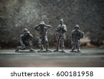 Close up image of  toy military ...