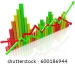 business colorful chart in the... | Shutterstock . vector #600186944