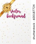 vector greetings white greeting ... | Shutterstock .eps vector #600187724