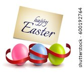 realistic  colourful easter...   Shutterstock .eps vector #600192764