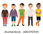 cute little boys characters... | Shutterstock .eps vector #600193544