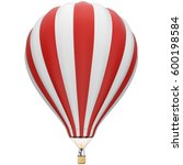 big red and white hot air... | Shutterstock .eps vector #600198584