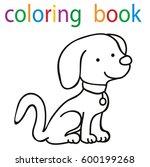 book coloring cartoon dog... | Shutterstock .eps vector #600199268