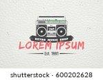 color sticker studio recording...   Shutterstock .eps vector #600202628